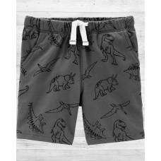 """Трикотажные шортики серого цвета """"В поисках динозавров"""" Картерс"""
