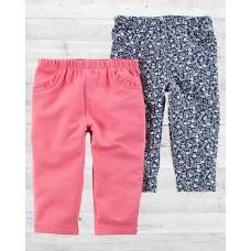 Комплект из 2-х плотных штанишек для девочки Картерс