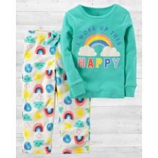 """Пижама с флисовыми штанами """"Яркая радуга"""" Carter'"""