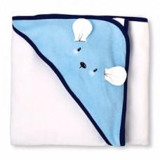 """Полотенце с капюшоном """"Мышка в голубом"""" Children's Place"""