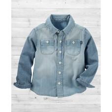 Джинсовая рубашка ОшКош из ткани шамбре