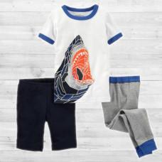 """Пижама 3в1 """"Графическая акула"""" ОшКош B'Gosh"""