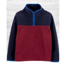Флисовая сине-бордовая кофта Carters