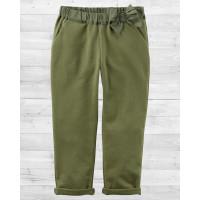 Стильные штанишки с бантиком цвета хаки Картерс