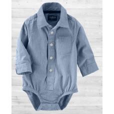 Рубашка-бодик ОшКош в мелкую полосочку